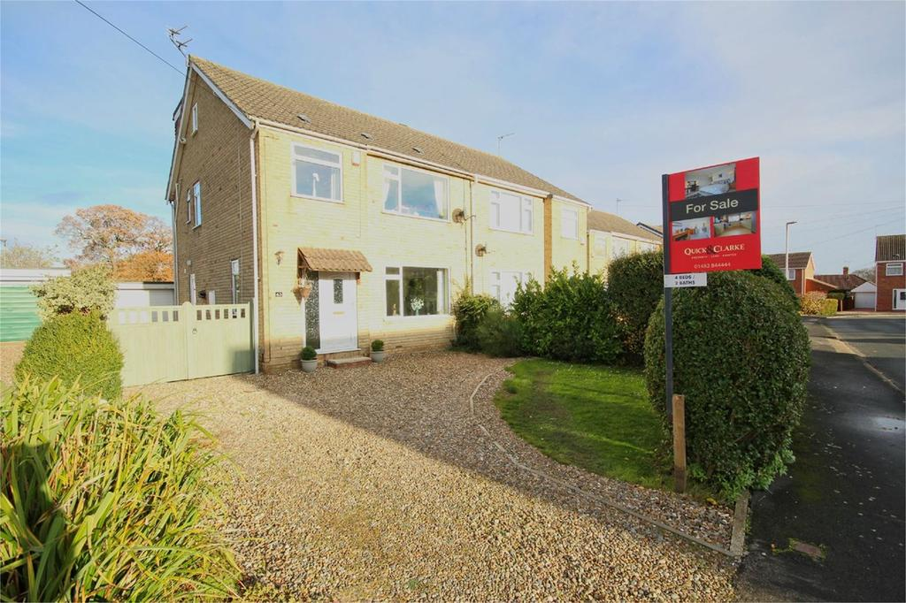 4 Bedrooms Semi Detached House for sale in Churchill Avenue, Cottingham, HU16