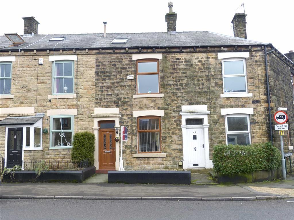 3 Bedrooms Terraced House for sale in Woolley Bridge Road, Hadfield, Glossop