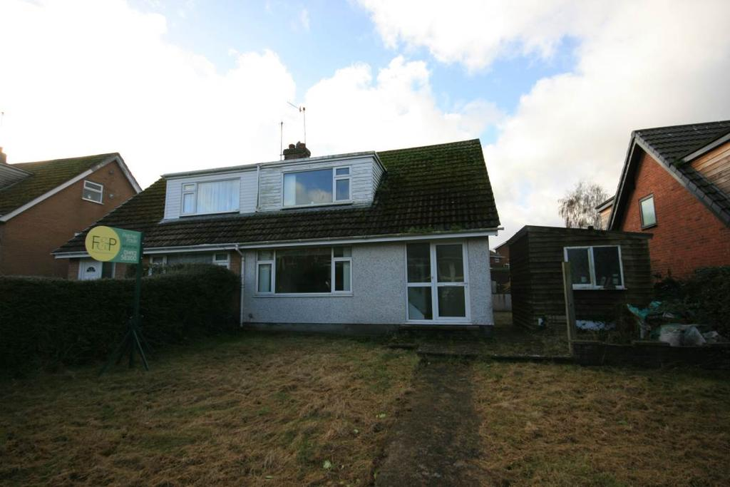 3 Bedrooms Semi Detached Bungalow for sale in 8 Llwyn Isaf, Conwy, LL32 8LL