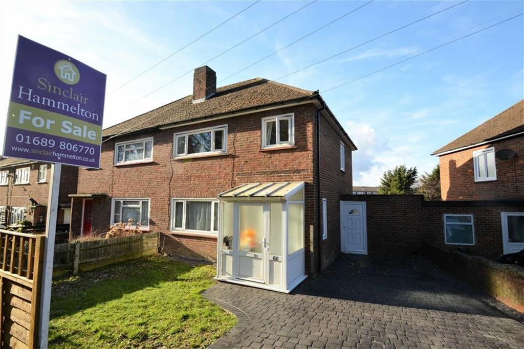 3 Bedrooms Semi Detached House for sale in Sweeps Lane, Orpington, Kent