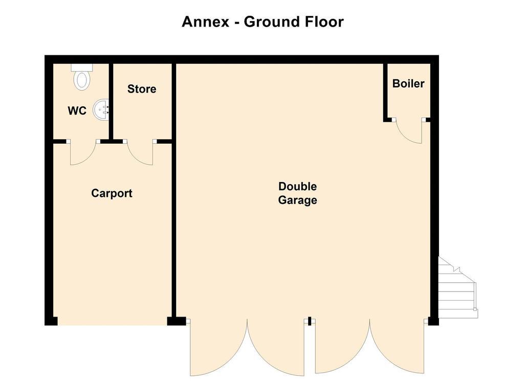 Garage Annex, Hall Farm, Main Street, Kneeton   Fl