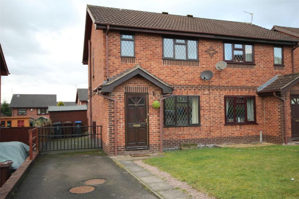 2 Bedrooms Semi Detached House for sale in Coleridge Drive, Cheadle, STOKE-ON-TRENT, Staffordshire