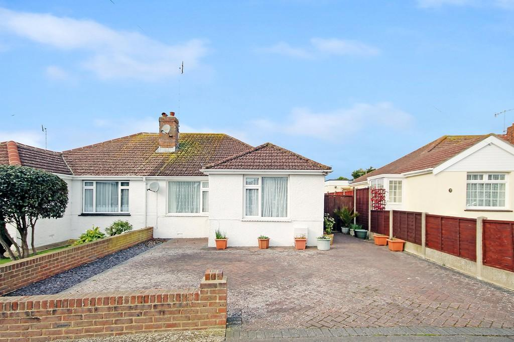 2 Bedrooms Semi Detached Bungalow for sale in Abbey Road, Sompting, BN15 0AB