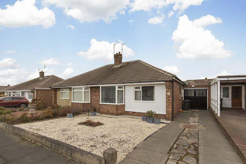 2 Bedrooms Semi Detached Bungalow for sale in Netherton Gardens, Woodlands Park, Wideopen, Newcastle upon Tyne