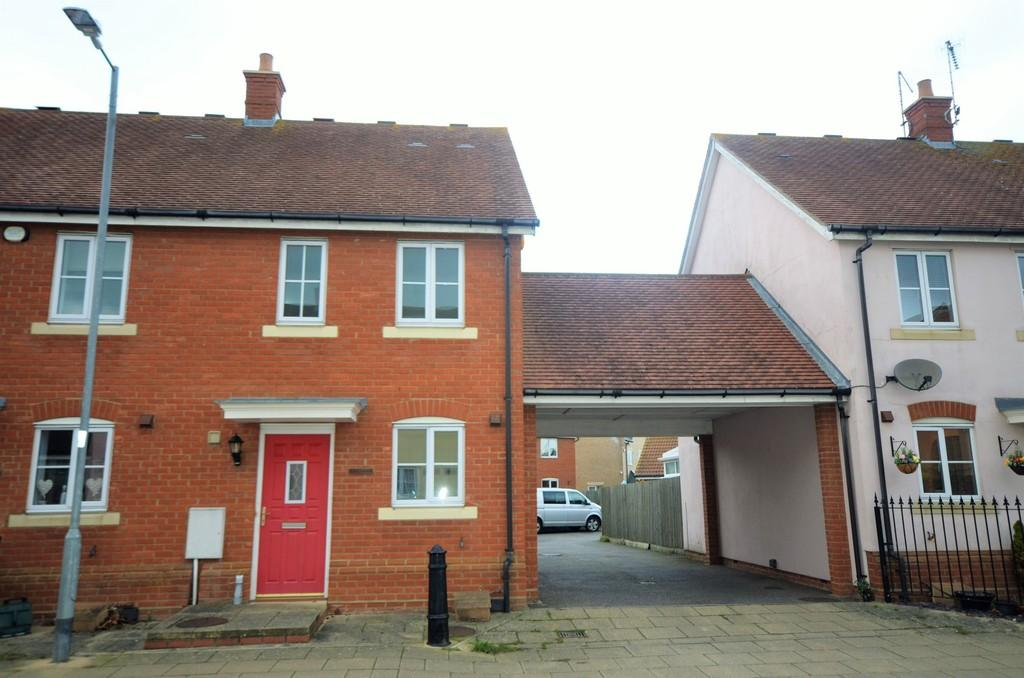2 Bedrooms End Of Terrace House for sale in Elgar Drive, Witham, CM8 1NG