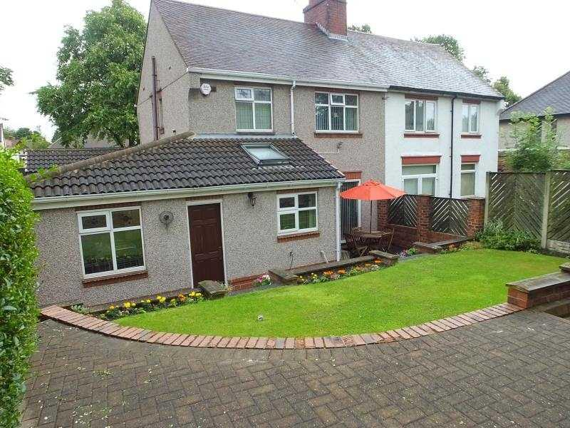 3 Bedrooms Semi Detached House for sale in Ridgeway Road, Gleadless, Sheffield, S12 2SY