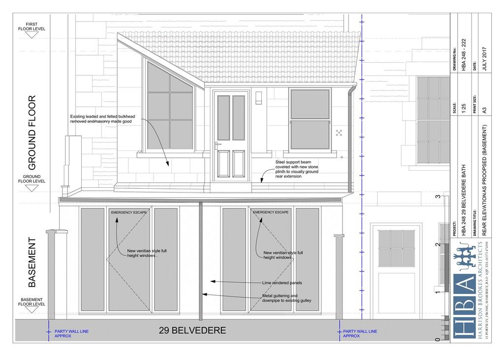 Floorplan 4 of 4: Rear Elevation