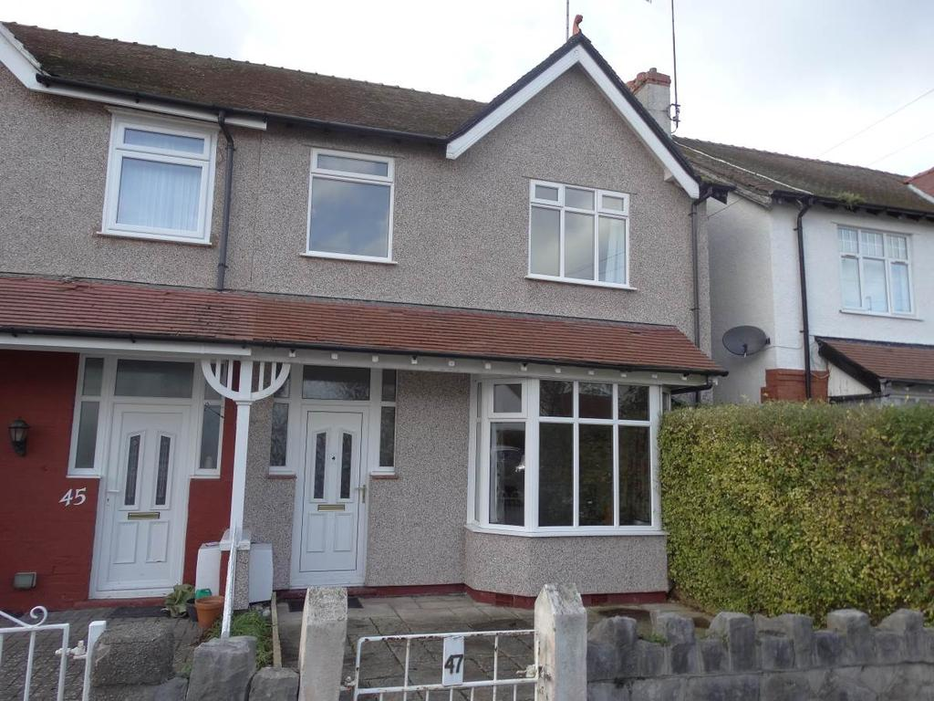 4 Bedrooms Semi Detached House for sale in 47 Colwyn Crescent, Rhos on Sea, LL28 4RF