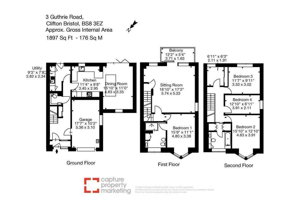 Floorplan: 3 Guthrie Road, Clifton Bristol, BS8 3 EZ Layout1.j