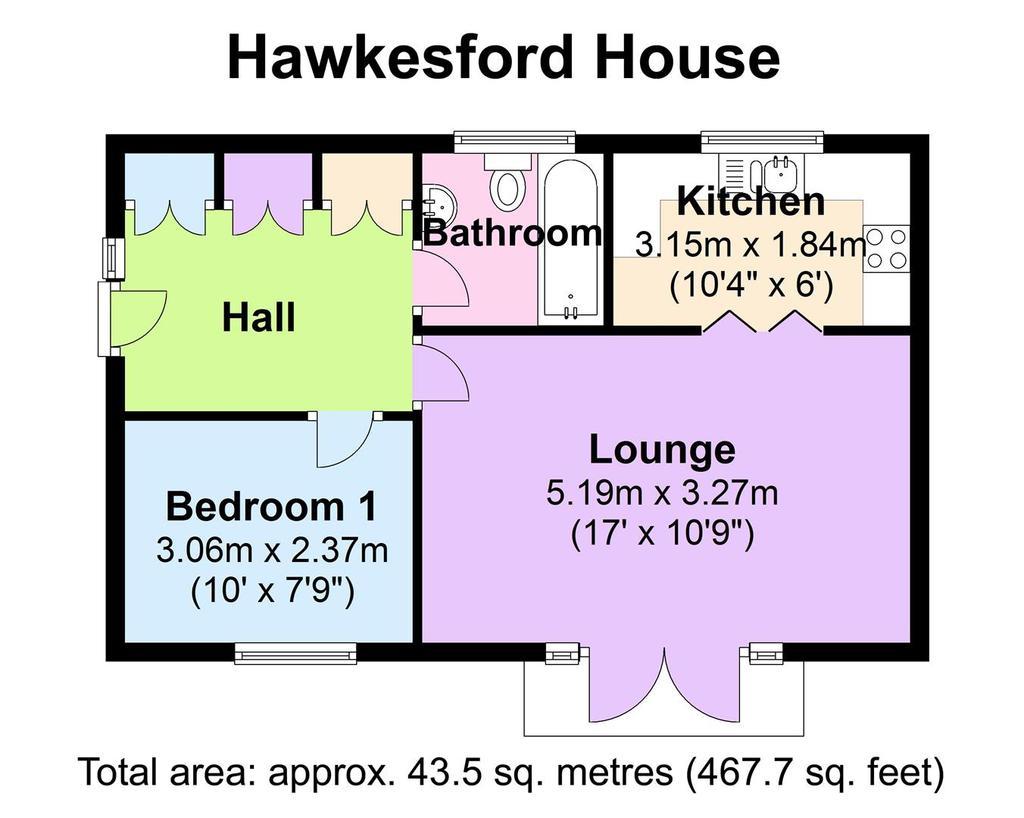 Floorplan: 18 Hawkesford House   Floorplan.JPG