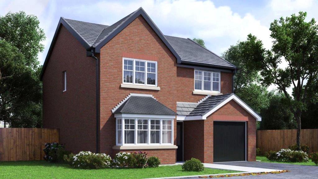 4 Bedrooms Semi Detached House for sale in Plot 57 Lakeside Gardens, The Churchill, Blackburn, BB2