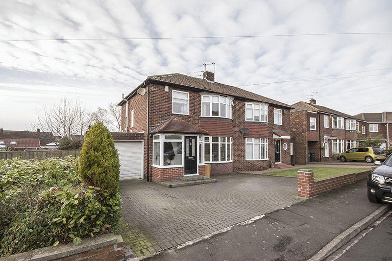 3 Bedrooms Semi Detached House for sale in Clayworth Road, Brunton Park, Gosforth