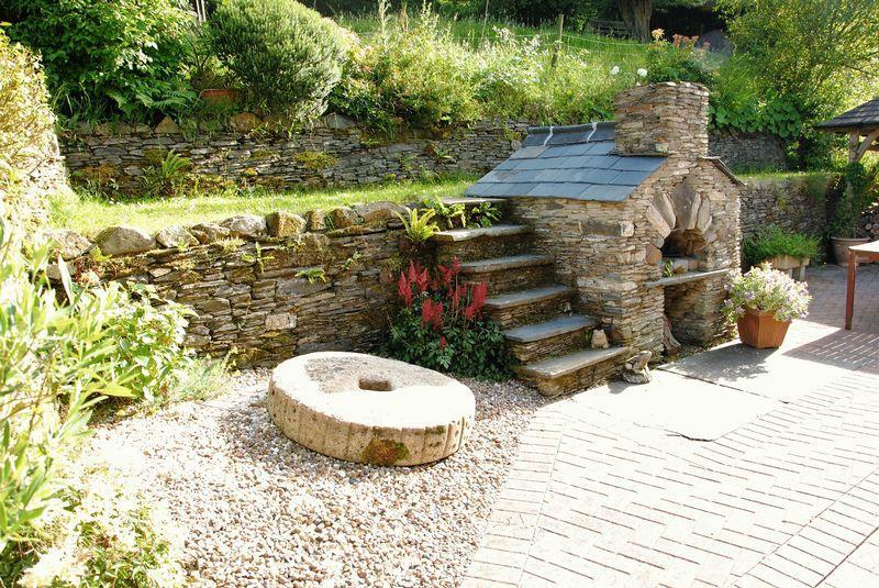 Outside stone oven