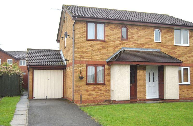 2 Bedrooms Semi Detached House for sale in Inwood Close, Poppyfields, Corby