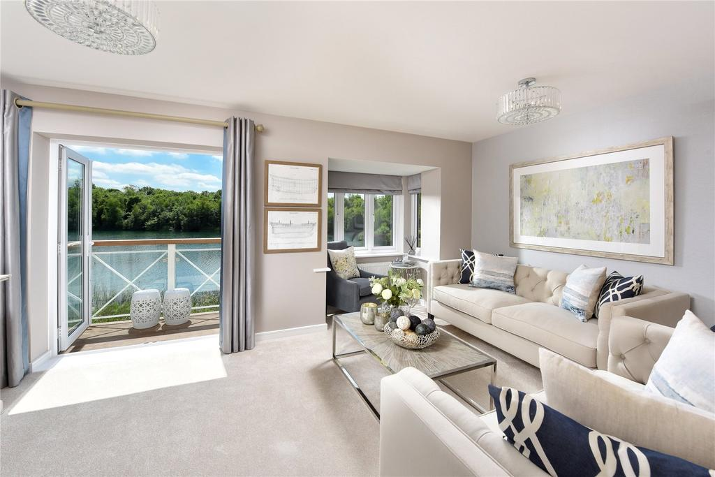 2 Bedrooms Flat for sale in The Coach House, Holborough Lakes, Kent
