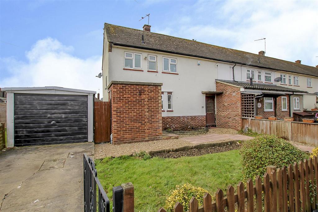 2 Bedrooms End Of Terrace House for sale in Sandringham Road, Pilgrims Hatch, Brentwood