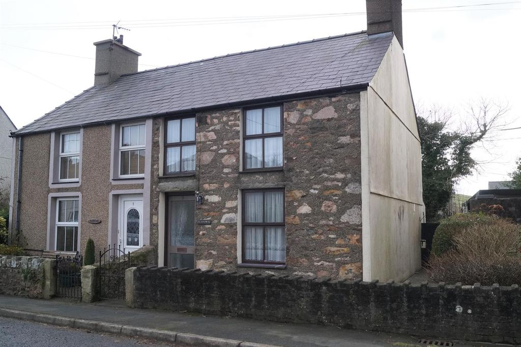 2 Bedrooms Semi Detached House for sale in Llanaelhaearn, Caernarfon