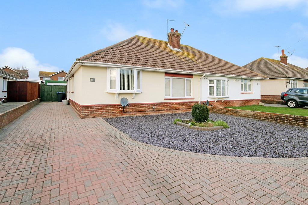 3 Bedrooms Semi Detached Bungalow for sale in Rackham Road, Worthing, West Sussex, BN13 1LH