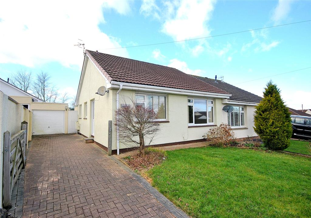 2 Bedrooms Semi Detached Bungalow for sale in Knightcott Gardens, Banwell, North Somerset, BS29