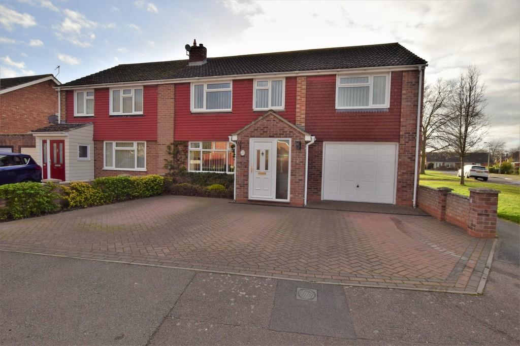 4 Bedrooms Semi Detached House for sale in Rugby Road, Great Cornard CO10 0JJ