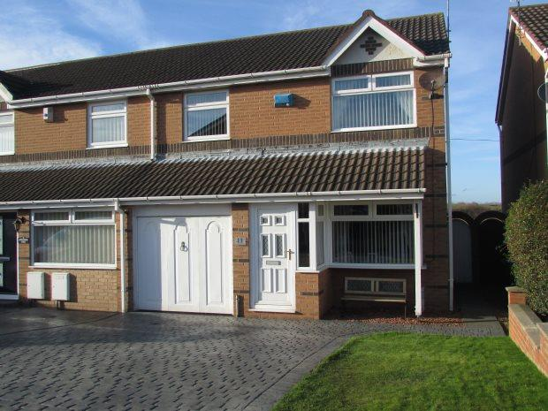 3 Bedrooms Semi Detached House for sale in APPLEWOOD CLOSE, CLAVERING, HARTLEPOOL