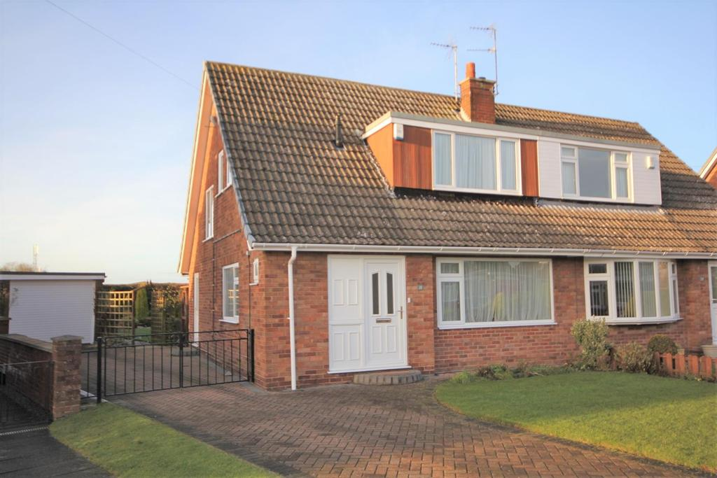 3 Bedrooms Semi Detached House for sale in Springbank Avenue, Dunnington, York, YO19