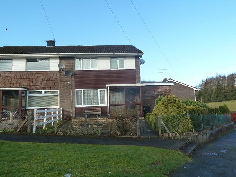3 Bedrooms Semi Detached House for sale in Coedwaungar, Brecon, Powys.