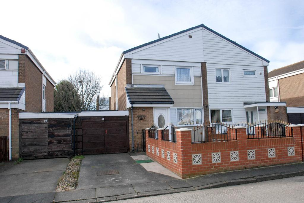 3 Bedrooms Semi Detached House for sale in Bardon Court, South Shields