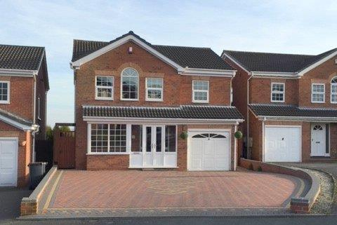 4 Bedrooms Detached House for sale in Checkley Road, Waterhayes Village, Newcastle