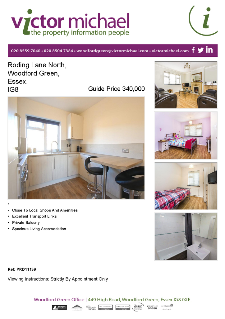 2 Bedrooms Flat for sale in Roding Lane North, Woodford Green, Essex. IG8