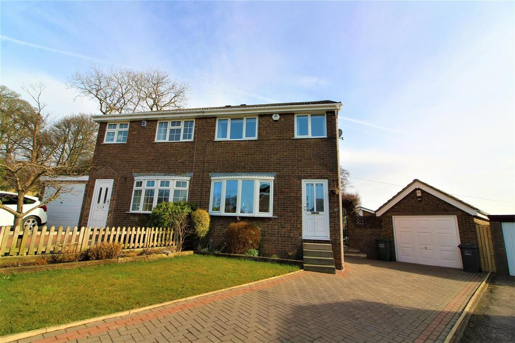 3 Bedrooms Semi Detached House for sale in Hawthorne Close, Flockton, Wakefield, WF4 4DF