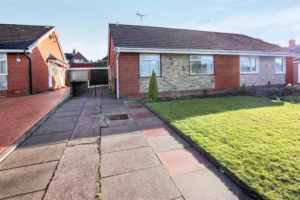 2 Bedrooms Semi Detached Bungalow for sale in Douglas Road, Milehouse, Newcastle