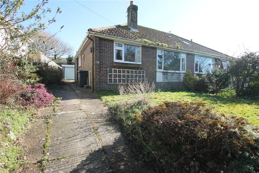 2 Bedrooms Semi Detached Bungalow for sale in Steepdown Road, Sompting, Lancing, West Sussex, BN15