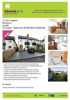 4 bedroom semi-detached house for sale - Lon-Ysgubor , Rhiwbina, Cardiff. CF14 6SF