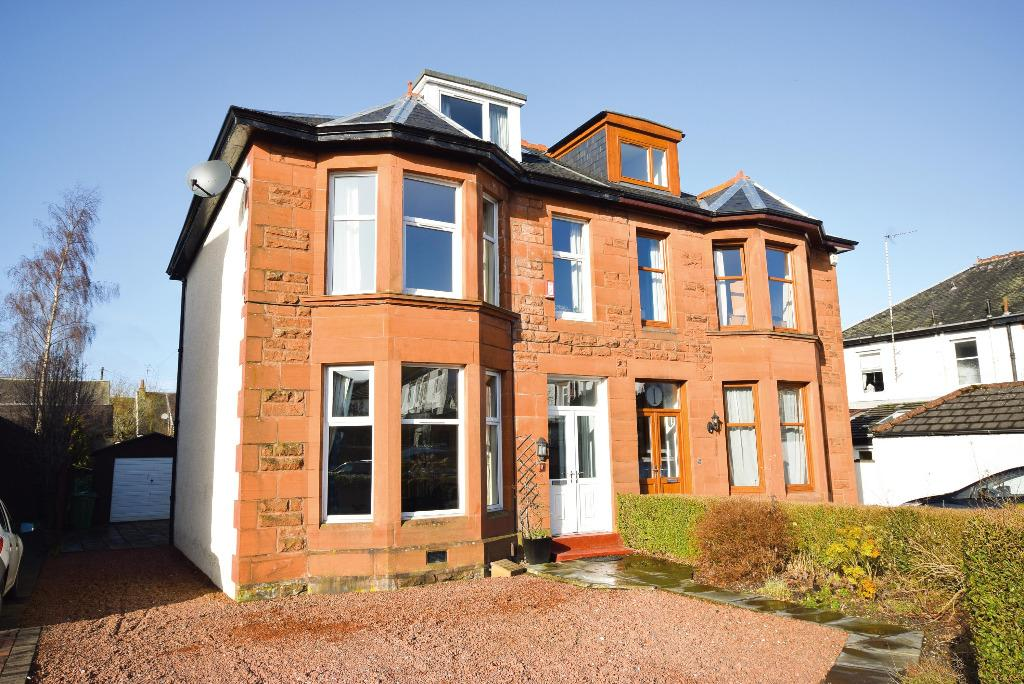 4 Bedrooms Semi Detached House for sale in Rosslea Drive, Giffnock, Glasgow, G46 6JW