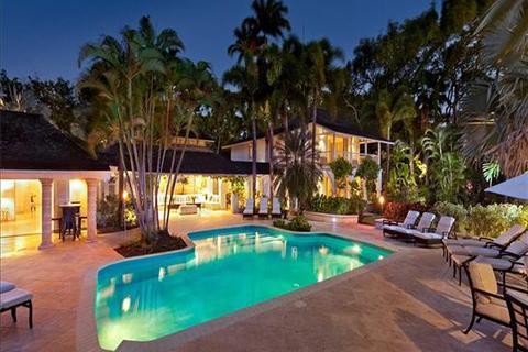 8 bedroom villa  - Sandy Lane, St James