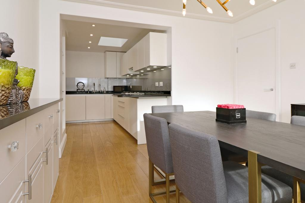 Kitchen to seating area