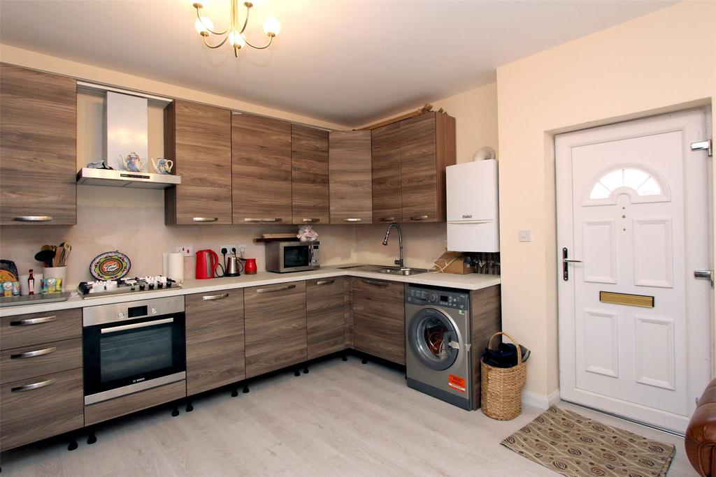 Busy Commercial Kitchen Back View
