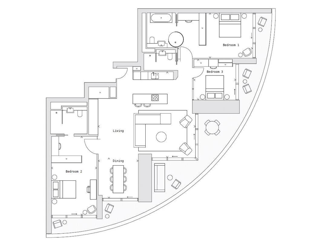 Floorplan: One Park Drive, E14