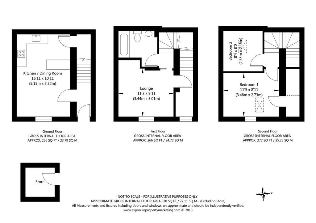 Carey street york yo10 2 bed terraced house for sale for Alma terrace york