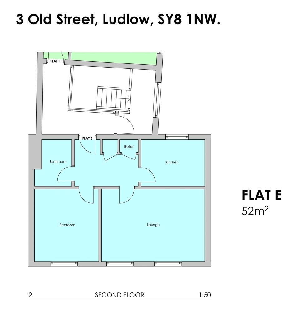Flat E, 3 Old Street, Ludlow, Shropshire, SY8 1 bed flat to rent ...