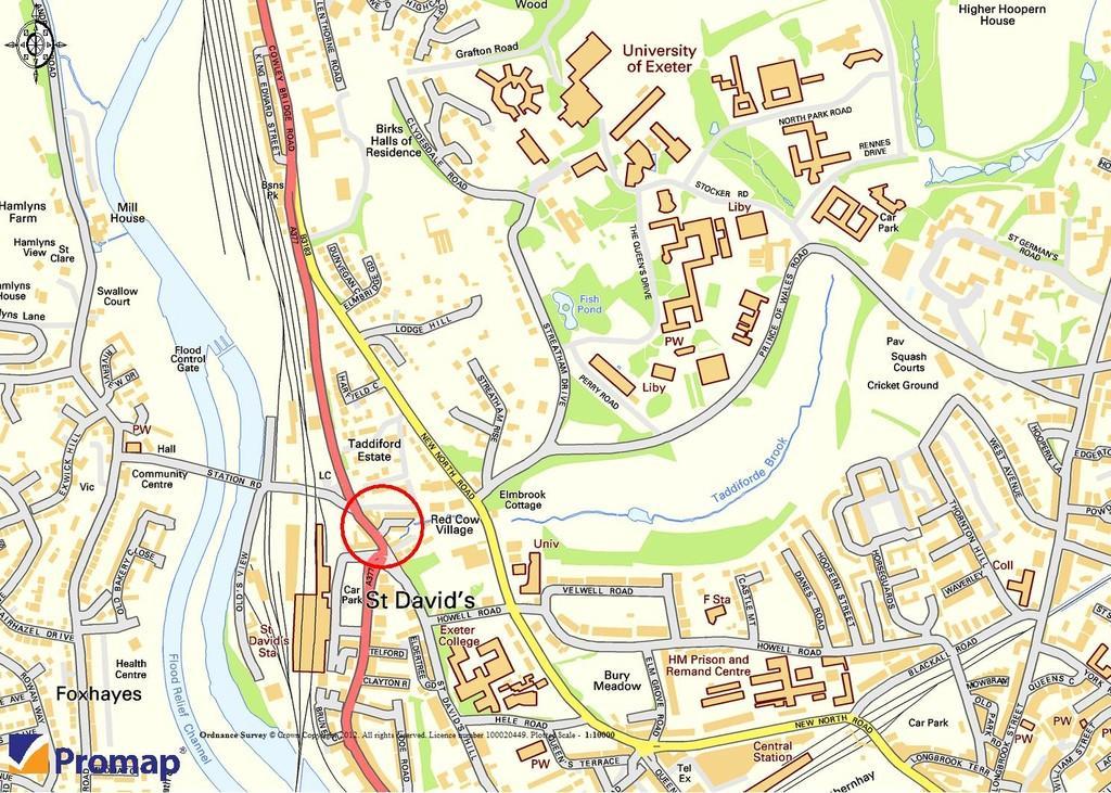 Location near campus