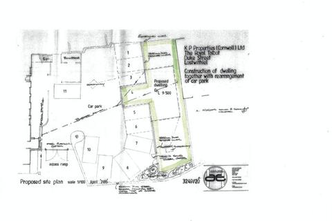 Plot for sale - Duke Street, Lostwithiel