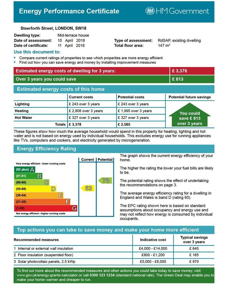 Steerforth Street, Earlsfield 4 bed terraced house - £1,100,000