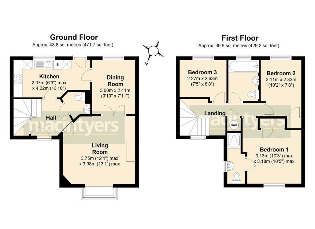 5 Goldcrest Road Brackley 3 Bed Detached House 309 950