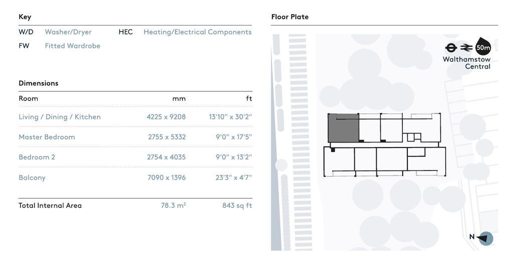 Floorplan 2 of 2: Dimensions