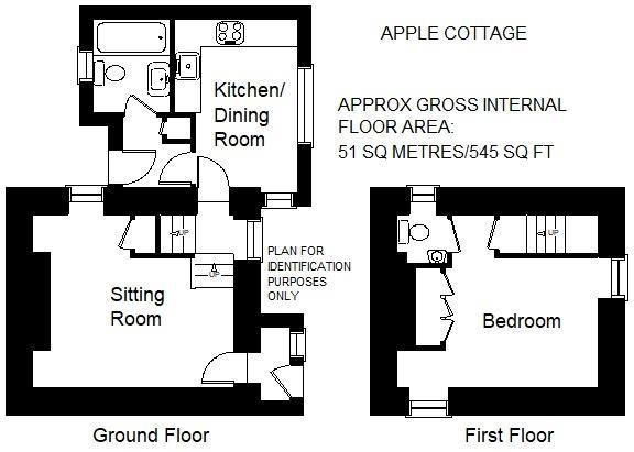 Floorplan: Apple Cottage nr Veryan Floor  Plan.jpg