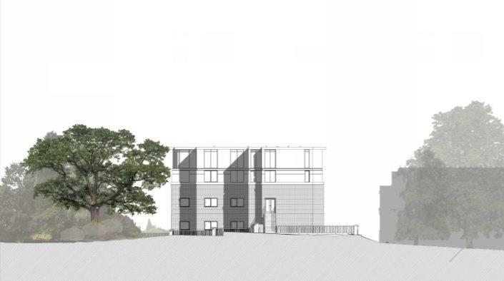 Proposed Rear (North) Elevation
