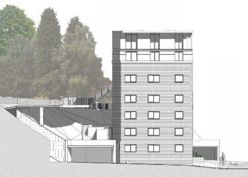 Proposed Side (West) Elevation