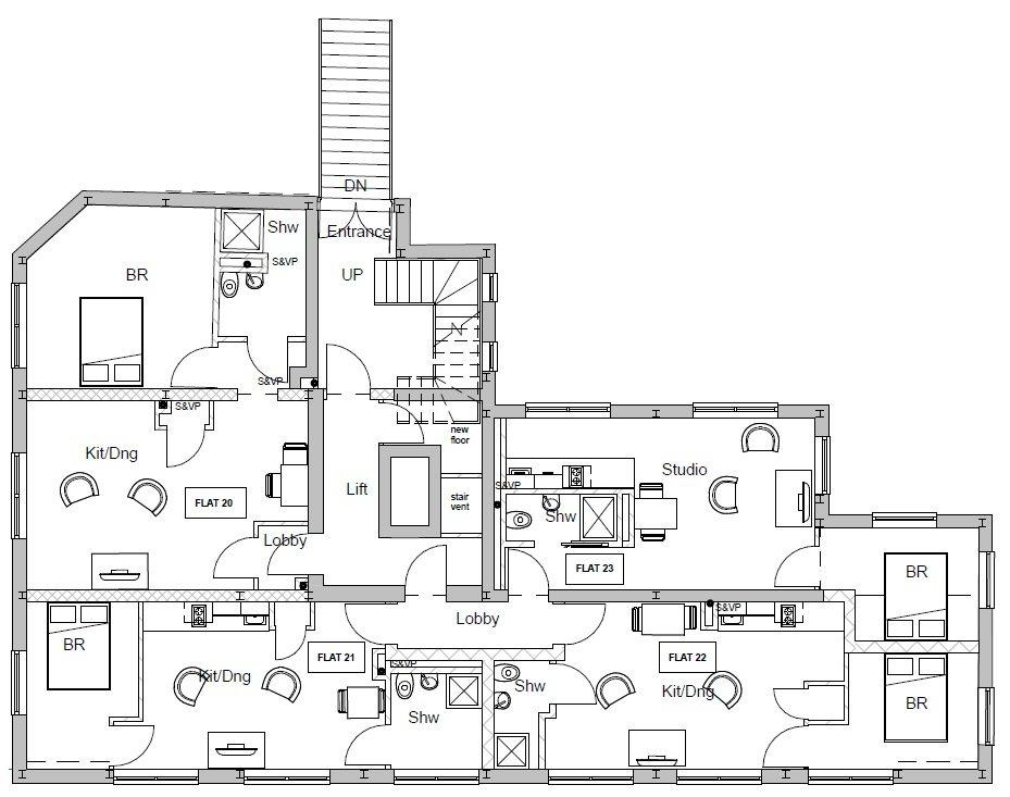 Proposed Fourth Floor